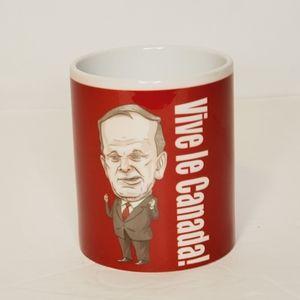"""Jean Chretien """"Vive le Canada""""! Ceramic Mug"""